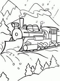 Free Coloring Pages Pictures Polar Train Express Polar Express