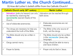 Martin Luther Vs John Calvin Venn Diagram Protestant Reformation Vs Catholic Reformation Venn Diagram