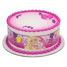 Barbie Sweet Sparkly Party Edible Cake Side Print In 2019 Lilees