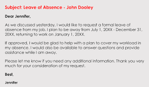 Letter Of Absences How To Write A Leave Of Absence Request Letter With Examples