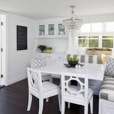l shaped banquette view full size amazing dining nook features robert abbey bling chandelier