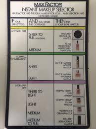 Max Factor Pan Stick Colour Chart