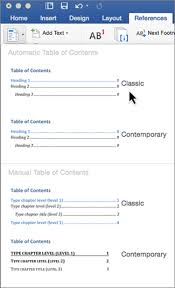 Microsoft Web Page Templates Microsoft Word Contents Page Template Create A Table Of Contents