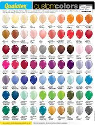Qualatex Balloons Color Chart Knowledge Base