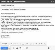 Contoh surat lamaran kerja lewat email. Contoh Surat Lamaran Kerja Lewat Email Yang Baik Dan Benar Download Contoh Surat Terlengkap