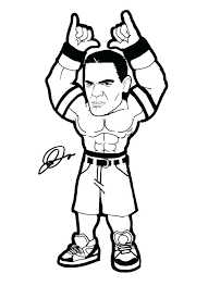 Small Picture Wwe John Cena Printable Coloring Pages Free Of Wrestler vonsurroquen