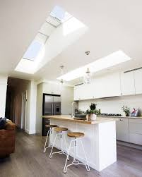 Attic Kitchen Skylights In Living Room Flat Ceiling With Attic Skylights