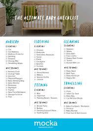 baby item checklist the ultimate australian baby checklist