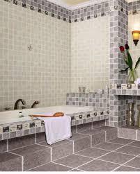 Bathroom Tile Floor Bathroom Bathroom Tile Pattern Combination With Glass Mosaic