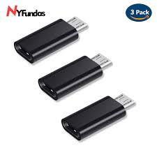 NYFundas <b>3pcs usb</b> c to micro <b>usb adapter</b> for Samsung Galaxy S7 ...