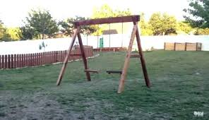 build your own swing set kit wooden swing set frame classic a how to build free build your own swing set kit