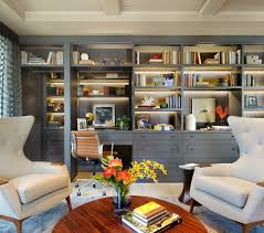 office shelving ideas. Gray Color Shelf Desk Design Idea Office Shelving Ideas