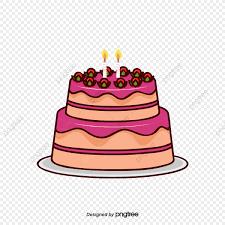 Cartoon Birthday Cake Vector Birthday Clipart Cake Clipart