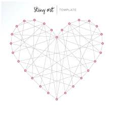 Free String Art Patterns Magnificent String Art Heart Patterns Heatherhubbardme