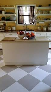 Linoleum Floor Kitchen 1000 Ideas About Painted Linoleum Floors On Pinterest Paint