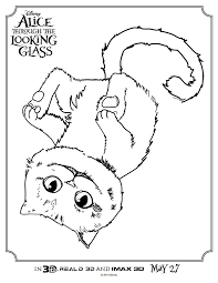 Small Picture Alice Through The Looking Glass Cheshire Cat Coloring Page Mama