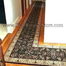 blue colored l shaped corner area rug floor runner kitchen