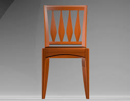 wooden chair front view. \u2026and wooden chair front view