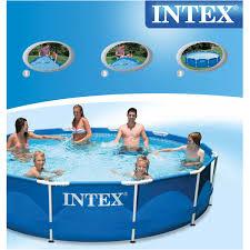 28712 intex family size metal frame pool set 3 66 m x 76 cm