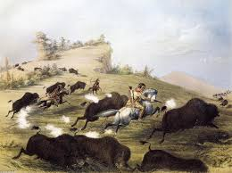 george catlin catlin the artist shooting buffaloes with