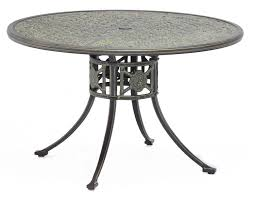 outdoor round dining table. Luxor Metal Outdoor Round Dining Table