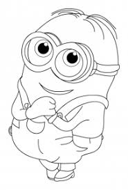 Minions coloring pages for kids. Minions Free Printable Coloring Pages For Kids