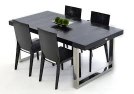 Black Lacquer Modern Dining Table
