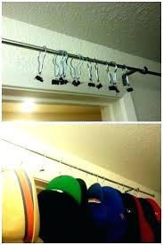 closet hat rack s holder organizer hangers hanger baseball hat hangers door rack closet