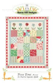 POSY TIME CHARM QUILT PATTERN FROM BUNNY HILL DESIGNS   bunny hill ... & Posy Time Charm Quilt Pattern from Bunny Hill di Adamdwight.com