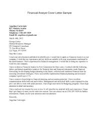 analyst cover letter financial analyst sample cover letter gallery of sample cover letter for finance position