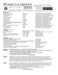 Actor Resume Template Microsoft Word Resume Cover Letter Example