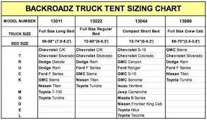 Truck Camper Size Chart Napier Outdoors Backroadz 13 Full Size Short Bed Truck Tent