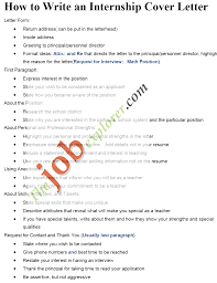 cover letter cover letter internship how to write an effective how to write an internship cover letter inside how to write cover letter for internship