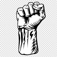 Fist Transparent Background Black And White Hand Fist Raised Fist Hand Gun