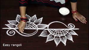 Side Rangoli Designs Images Latest Side Border Rangoli Designs Simple Kolam With Out
