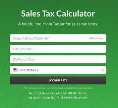 Mn State Sales Tax Chart Taxjar State Sales Tax Calculator Career Etc Sales Tax
