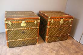 Steamer Trunk Furniture Vintage Monogram Cube Steamer Trunks From Louis Vuitton Set Of 2