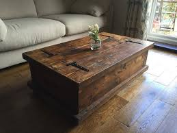 rustic furniture coffee table. rustic chunky coffee table storage chest hand by newforestrustics furniture e