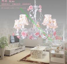 pink chandelier lighting. 5 Arms Rose Chandeliers Fabric Lamp Shade Nature Chandelier Light Indoor Lighting Led Pink Flower Leaf Korean Country Style