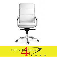 white swivel chair. C-307HW Executive Highback Swivel Chair (White) White