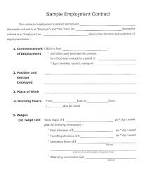 Temporary Employment Contract Template Temporary Employee Contract Template Job Agreement Sample