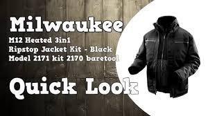 Milwaukee M12 3 In 1 Ripstop Heated Jacket 2171 2170