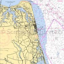 Decorative Nautical Charts Sandbridge Beach Nautical Chart