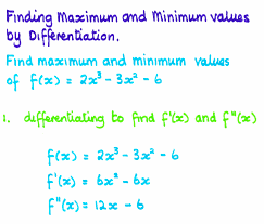 maximum and minimum notes for tests and examinations
