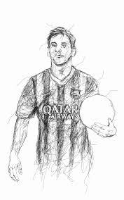 16 Model Messi Cartoon Sketch Eyeviewnetcom