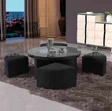 black round coffee table with seating underneath office furniture malaysia batu caves gombak bukit jalil2a