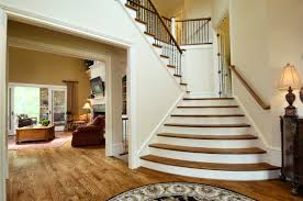 wood flooring for stairs in a modern home