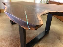 with turquoise inlay on steel u legs