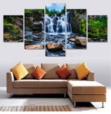 Waterfall Home Decor Popular Waterfall Paintings Buy Cheap Waterfall Paintings Lots