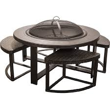 wood burning patio fire pits. Fresh Outdoor Wood Burning Fire Pit Tables Dagan Industries 4 Person Cast Aluminum Patio Conversation Set Pits S